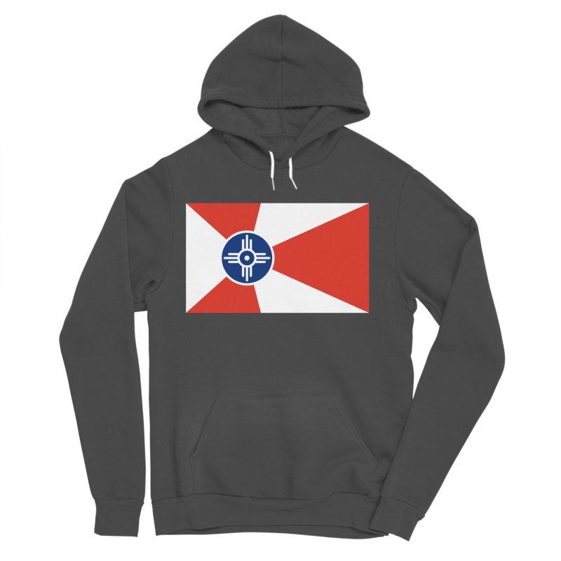 Wichita City Flag Men's Sponge Fleece Pullover Hoody by OR designs