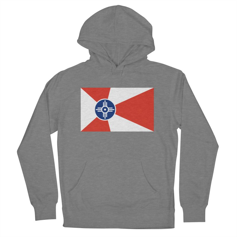 Wichita City Flag Women's French Terry Pullover Hoody by OR designs