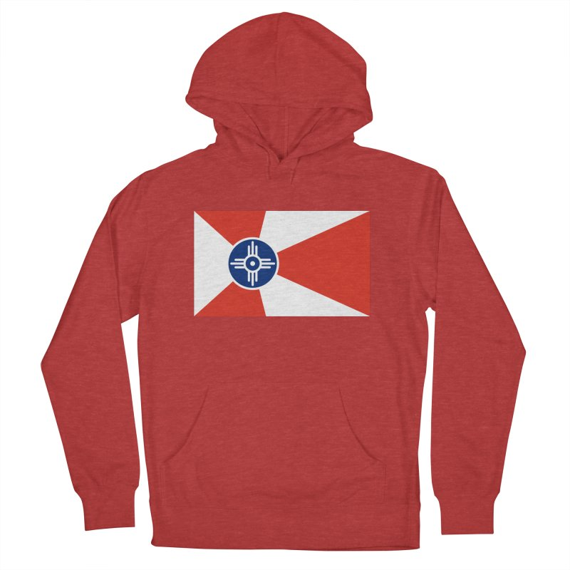 Wichita City Flag Men's French Terry Pullover Hoody by OR designs