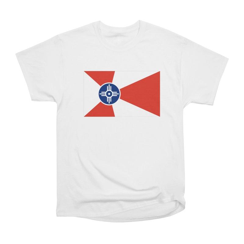 Wichita City Flag Men's Heavyweight T-Shirt by OR designs