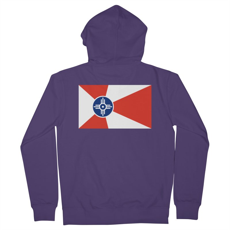 Wichita City Flag Women's French Terry Zip-Up Hoody by OR designs