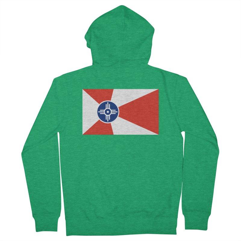 Wichita City Flag Men's Zip-Up Hoody by OR designs