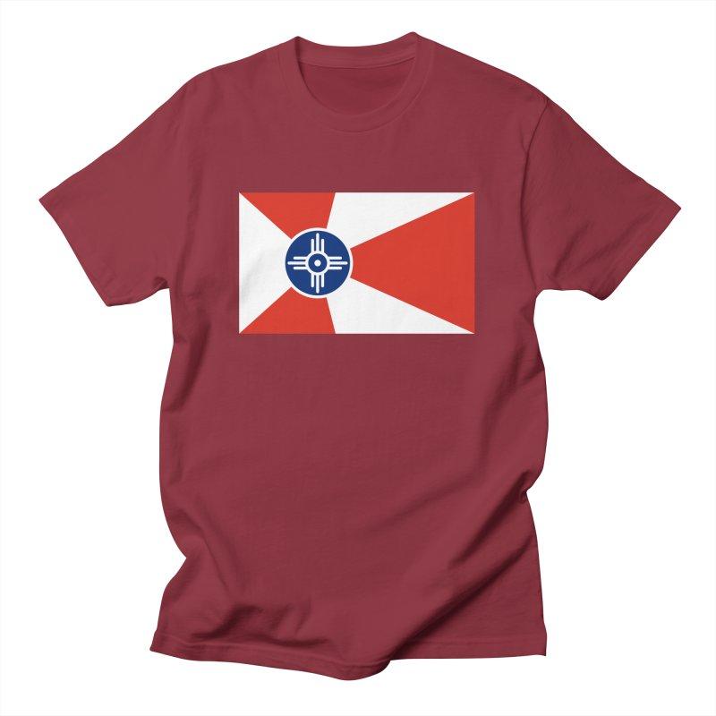 Wichita City Flag Men's T-Shirt by OR designs