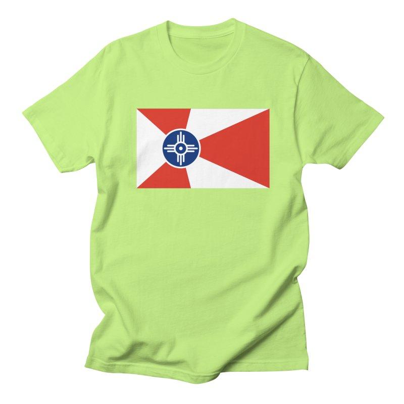Wichita City Flag Men's Regular T-Shirt by OR designs