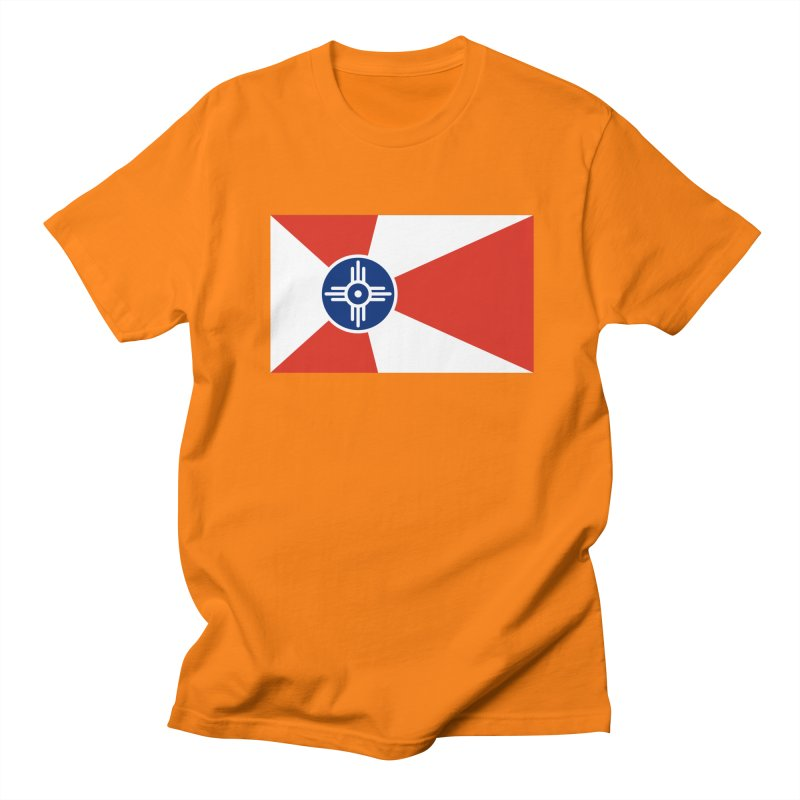 Wichita City Flag Men's Regular T-Shirt by OR designs