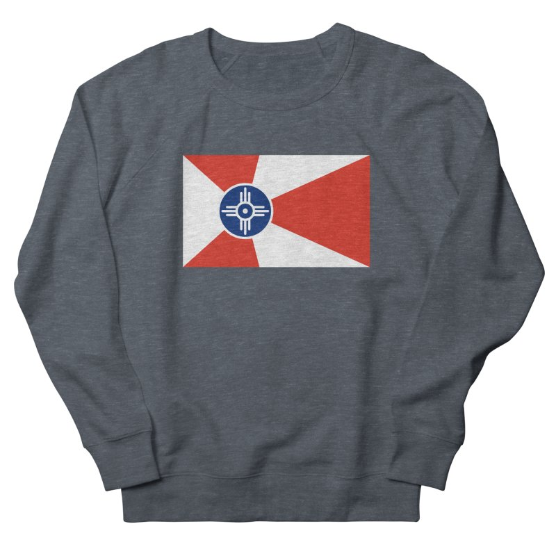 Wichita City Flag Men's French Terry Sweatshirt by OR designs