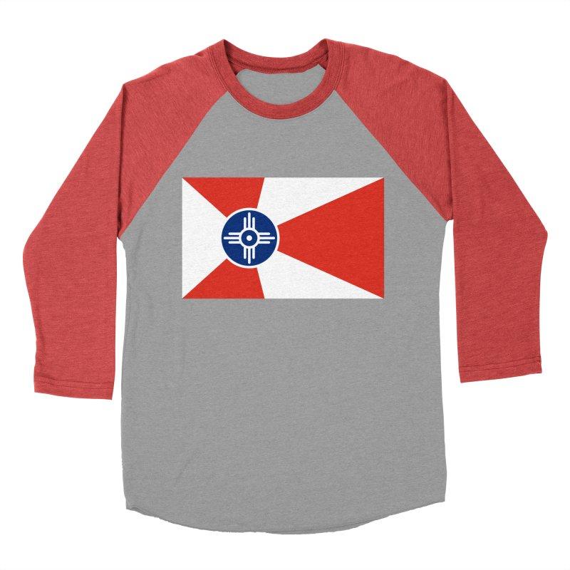 Wichita City Flag Women's Baseball Triblend Longsleeve T-Shirt by OR designs