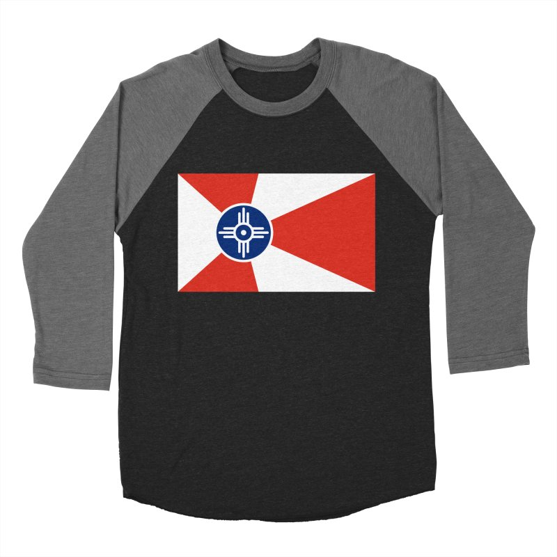Wichita City Flag Women's Baseball Triblend Longsleeve T-Shirt by OR designs