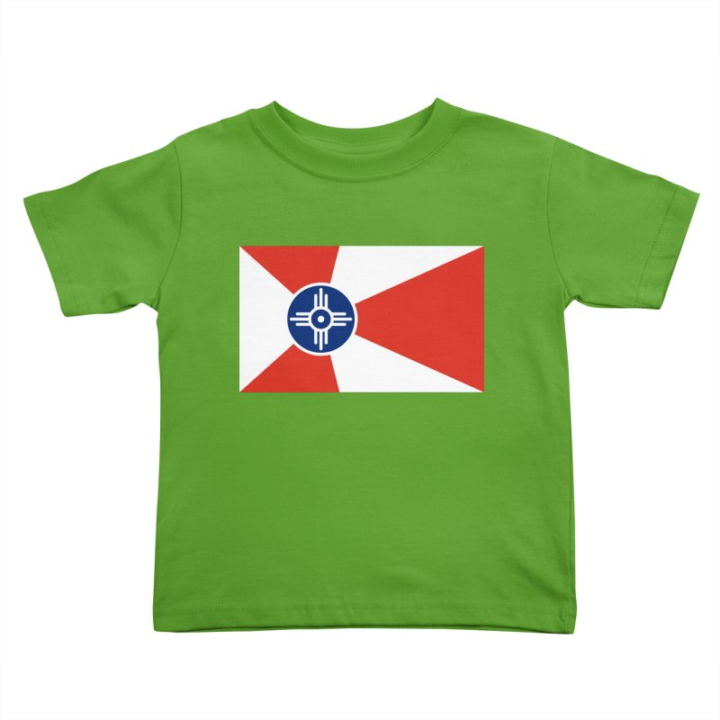 Wichita City Flag Kids Toddler T-Shirt by OR designs