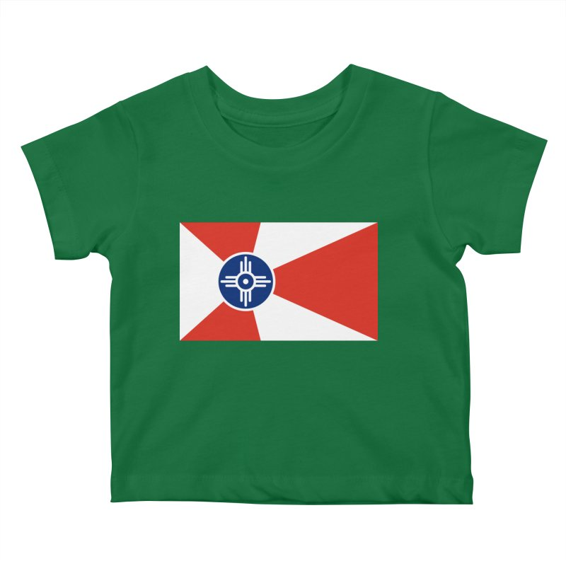 Wichita City Flag Kids Baby T-Shirt by OR designs