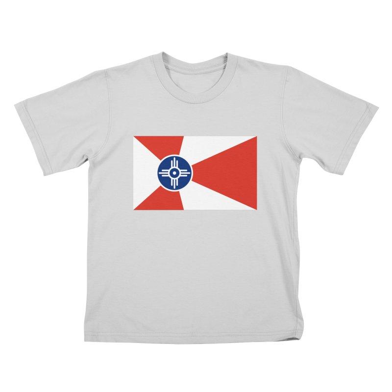 Wichita City Flag Kids T-Shirt by OR designs