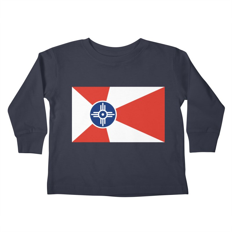 Wichita City Flag Kids Toddler Longsleeve T-Shirt by OR designs