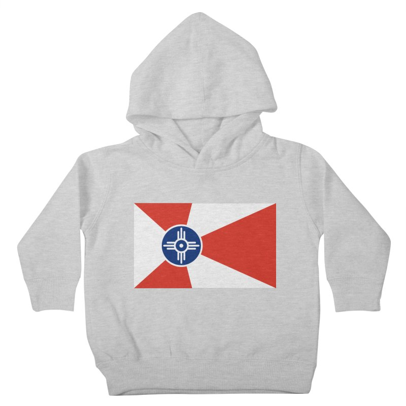 Wichita City Flag Kids Toddler Pullover Hoody by OR designs