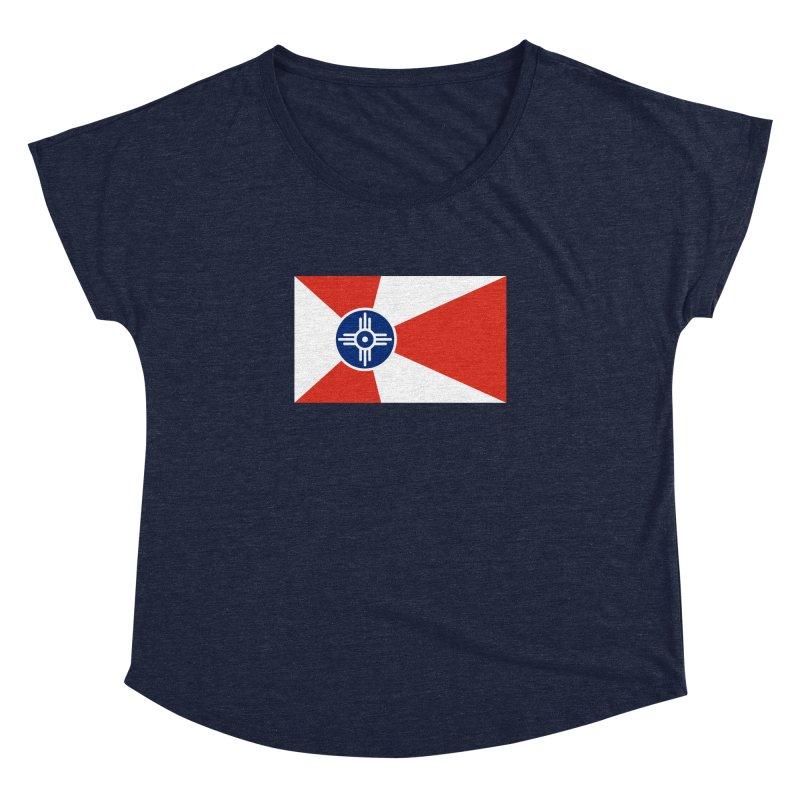 Wichita City Flag Women's Dolman Scoop Neck by OR designs