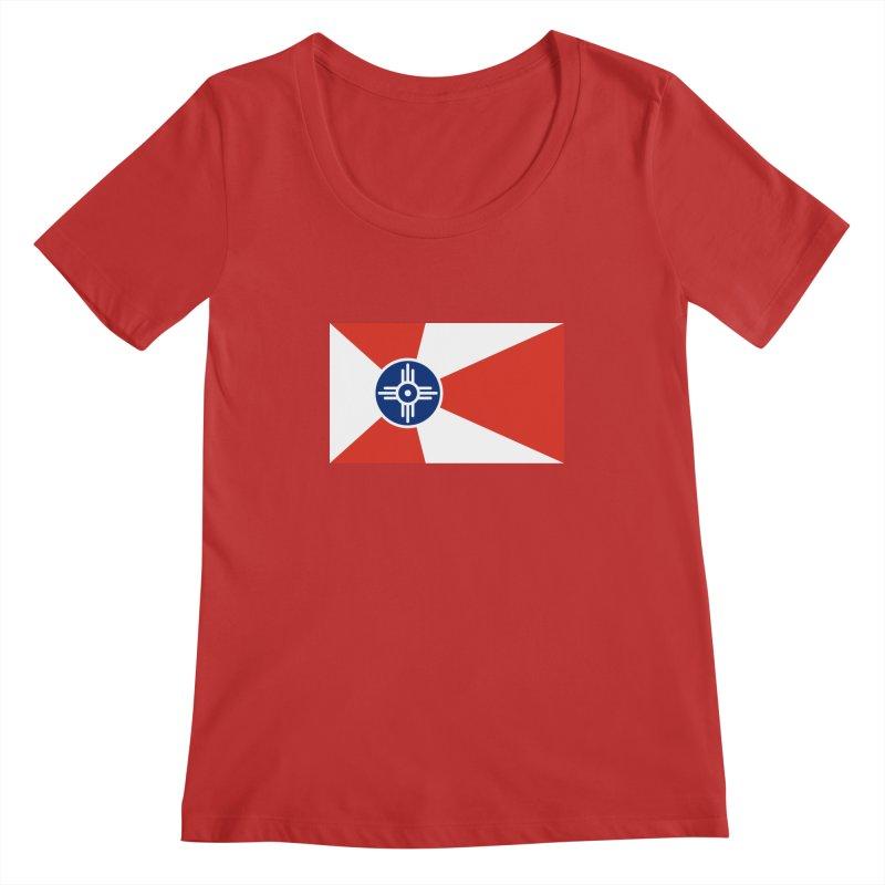 Wichita City Flag Women's Regular Scoop Neck by OR designs