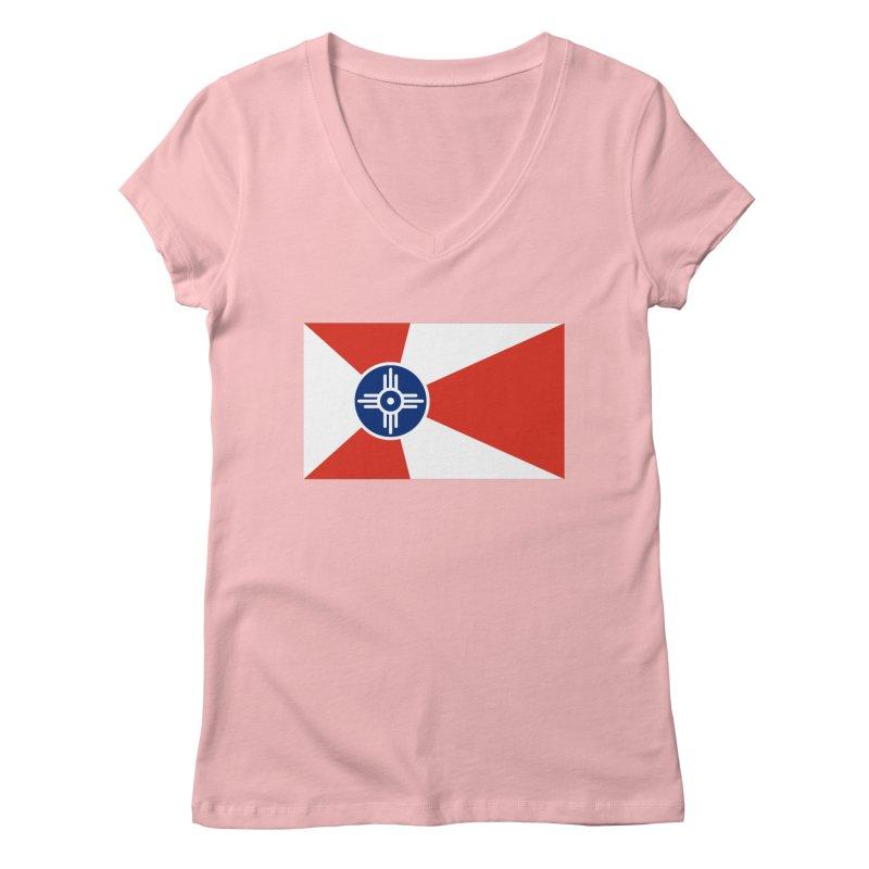 Wichita City Flag Women's Regular V-Neck by OR designs