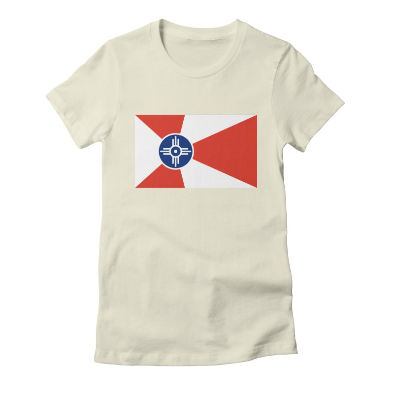 Wichita City Flag Women's Fitted T-Shirt by OR designs