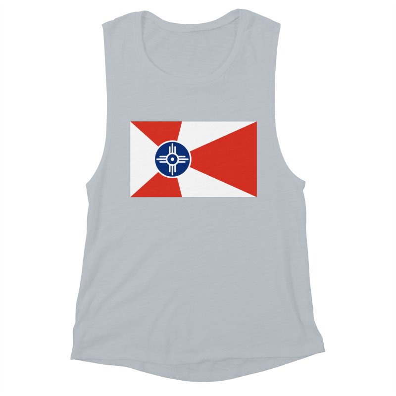 Wichita City Flag Women's Muscle Tank by OR designs
