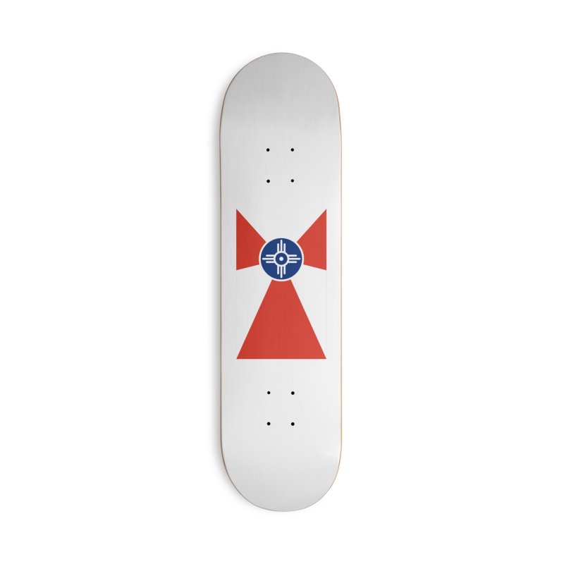 Wichita City Flag Accessories Deck Only Skateboard by OR designs