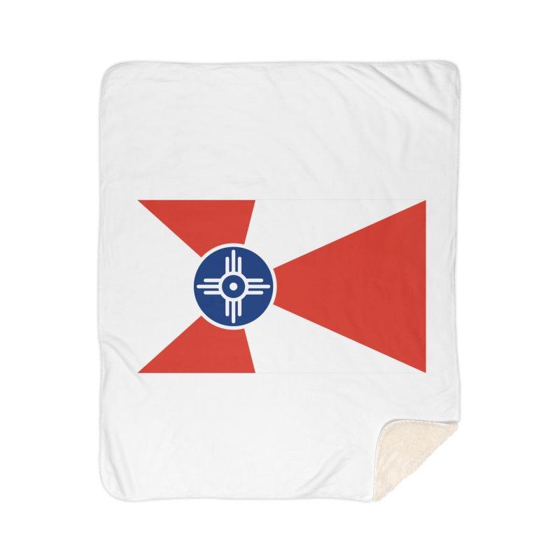 Wichita City Flag Home Sherpa Blanket Blanket by OR designs