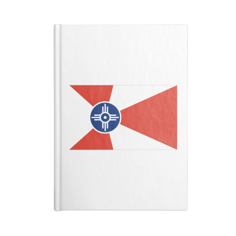 Wichita City Flag Accessories Lined Journal Notebook by OR designs