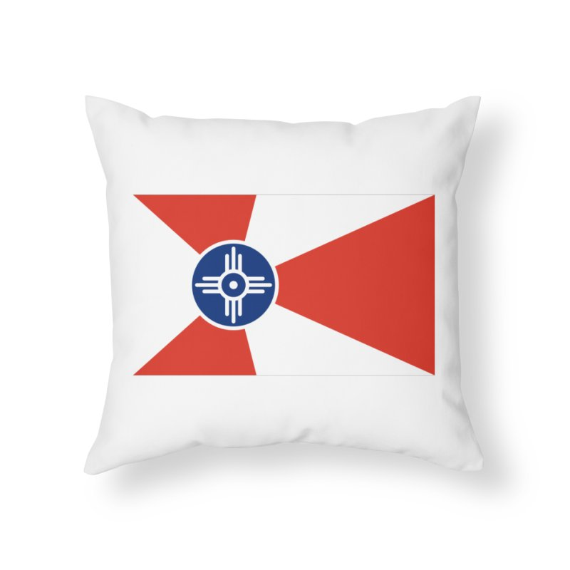 Wichita City Flag Home Throw Pillow by OR designs