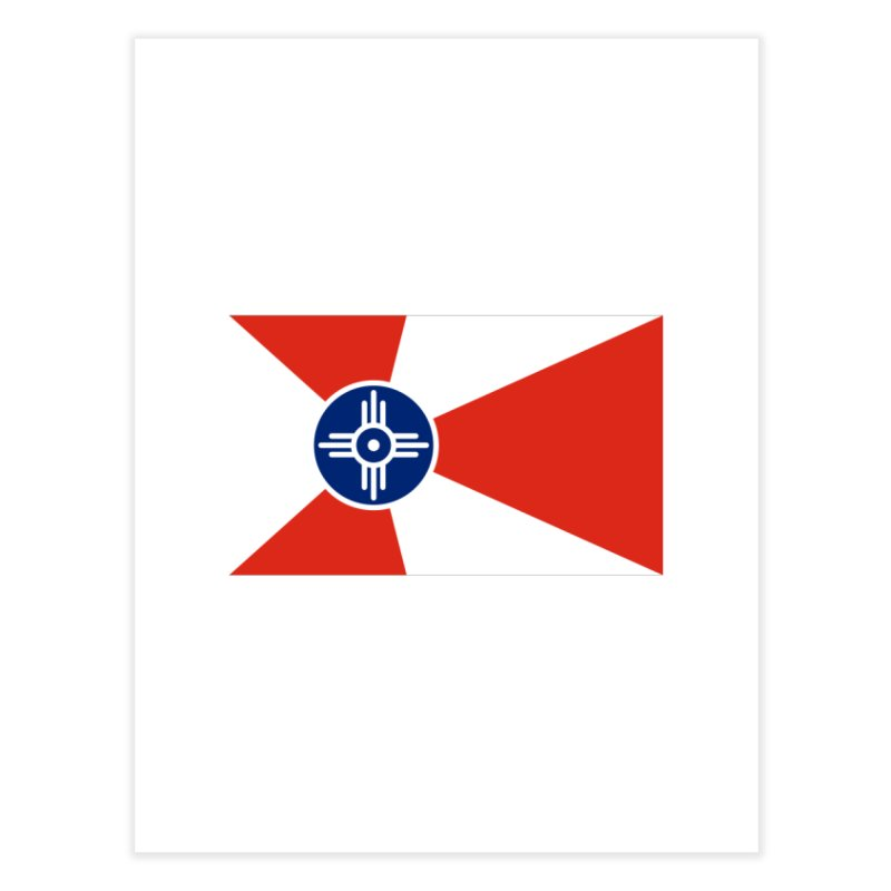 Wichita City Flag Home Fine Art Print by OR designs