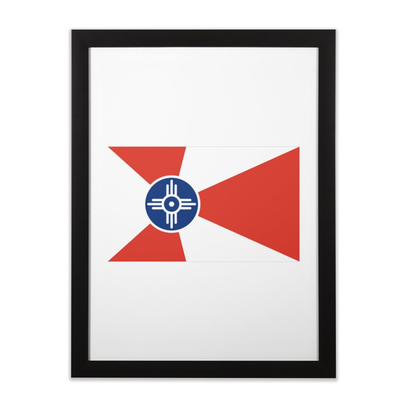 Wichita City Flag Home Framed Fine Art Print by OR designs