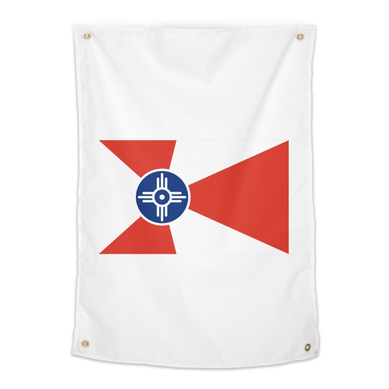 Wichita City Flag Home Tapestry by OR designs
