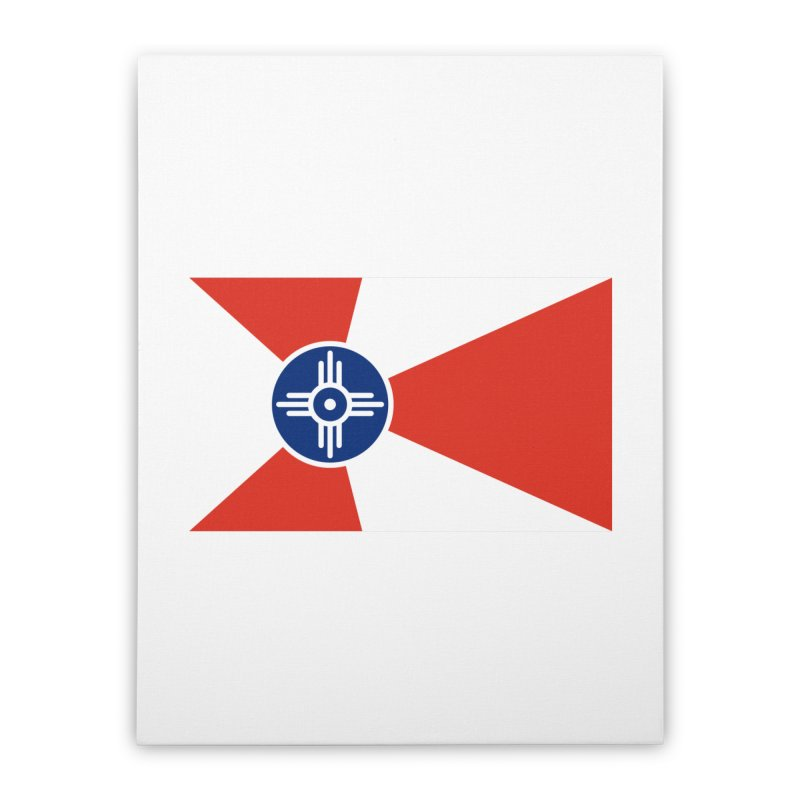 Wichita City Flag Home Stretched Canvas by OR designs