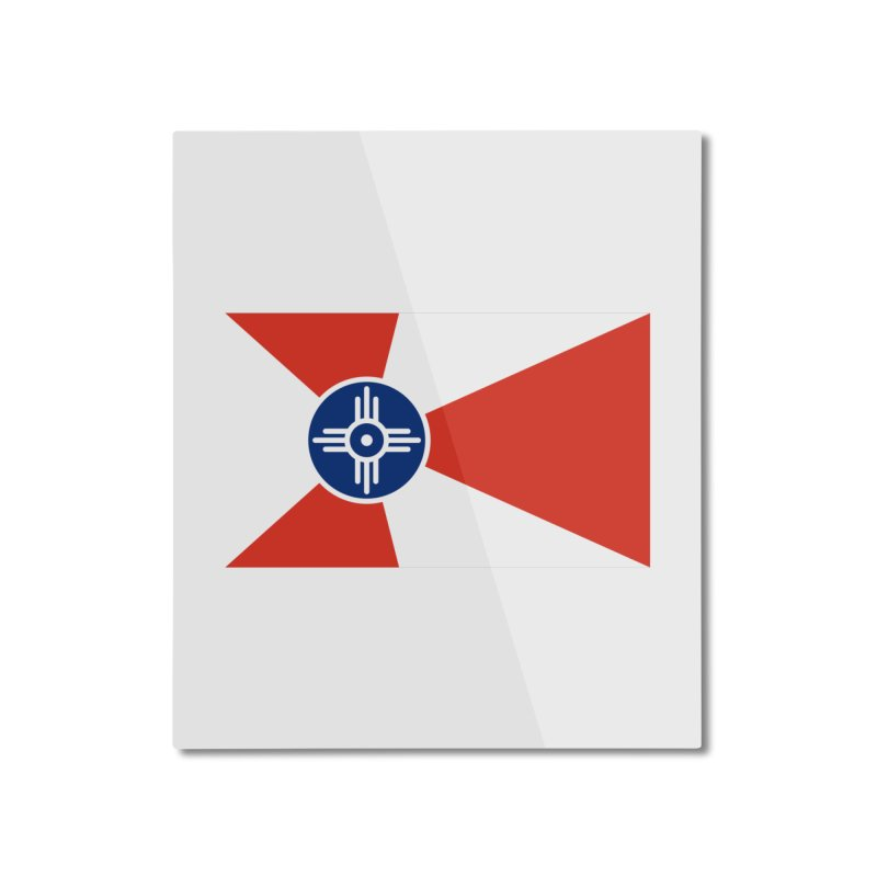 Wichita City Flag Home Mounted Aluminum Print by OR designs