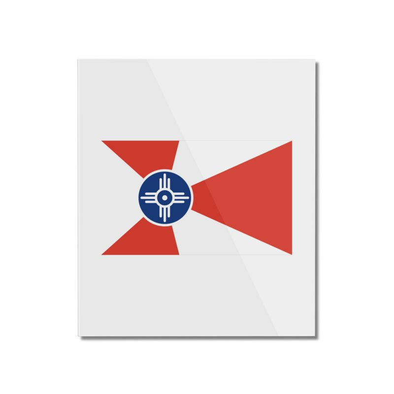 Wichita City Flag Home Mounted Acrylic Print by OR designs