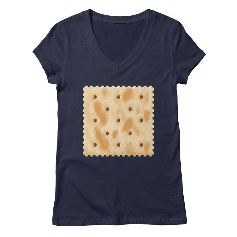 Cracker Women's Regular V-Neck by OR designs