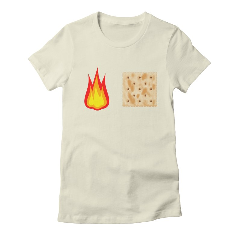 Fire Cracker Women's Fitted T-Shirt by OR designs