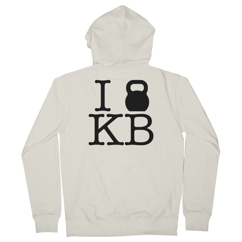Do you KettleBell KB? Women's French Terry Zip-Up Hoody by OR designs
