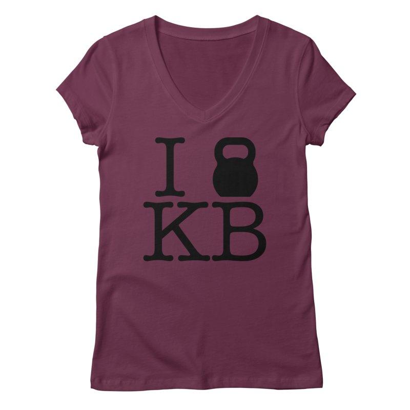 Do you KettleBell KB? Women's Regular V-Neck by OR designs