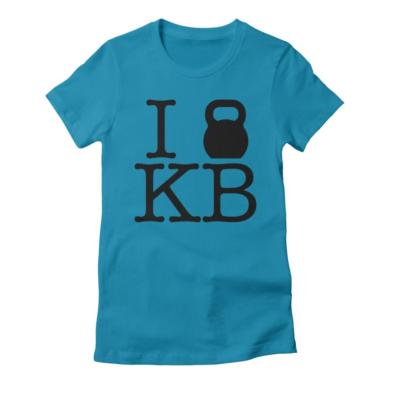 Do you KettleBell KB? Women's Fitted T-Shirt by OR designs