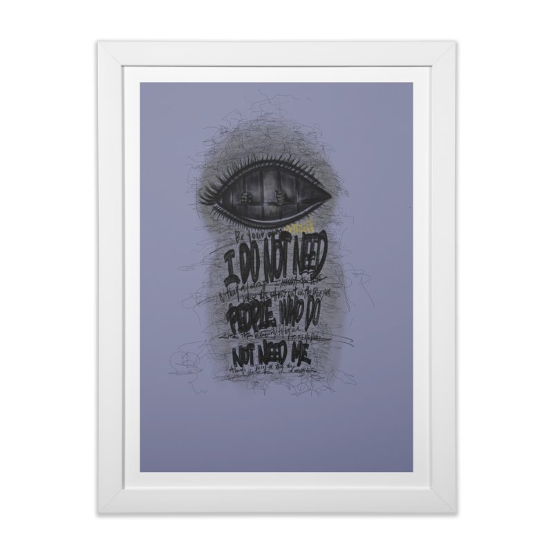 don_t need people Home Framed Fine Art Print by overlordlab