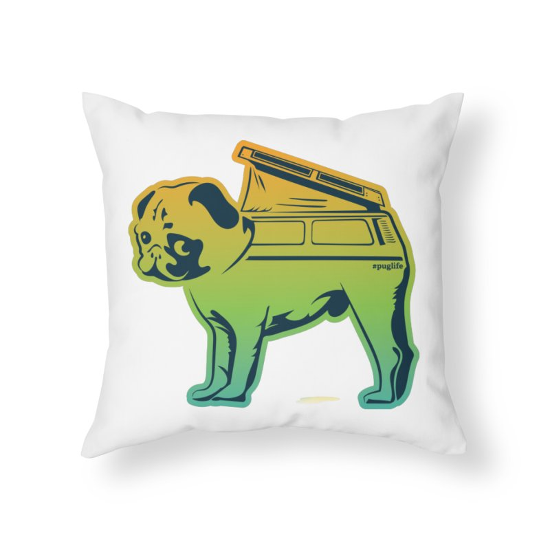 Special Edition Rainbow #puglife Home Throw Pillow by Ovid Nine Creative Lab signature shirts