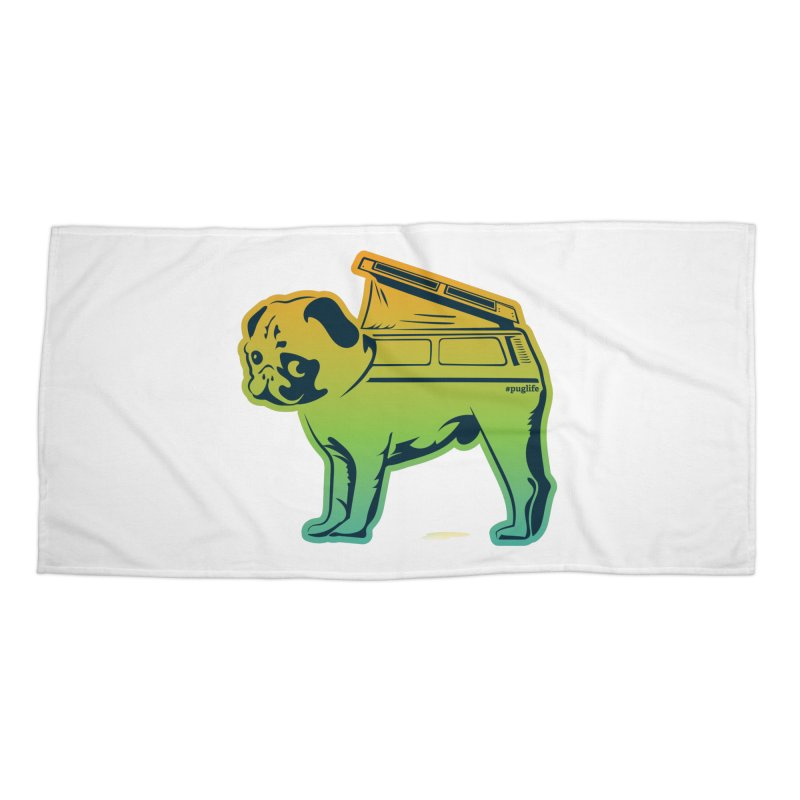 Special Edition Rainbow #puglife Accessories Beach Towel by Ovid Nine Creative Lab signature shirts