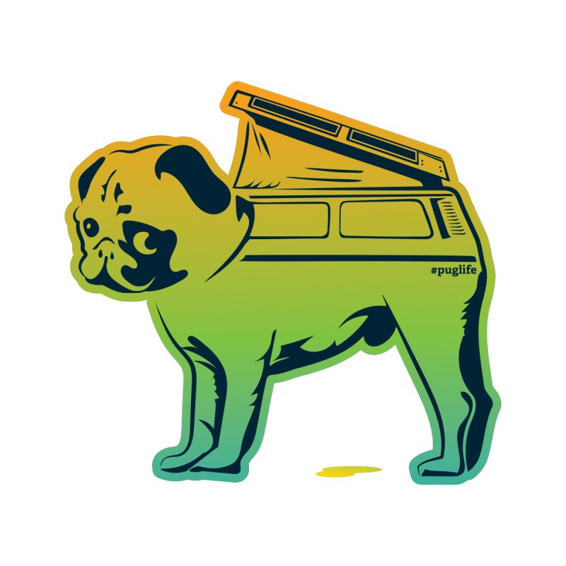 Special Edition Rainbow #puglife by Ovid Nine Creative Lab signature shirts