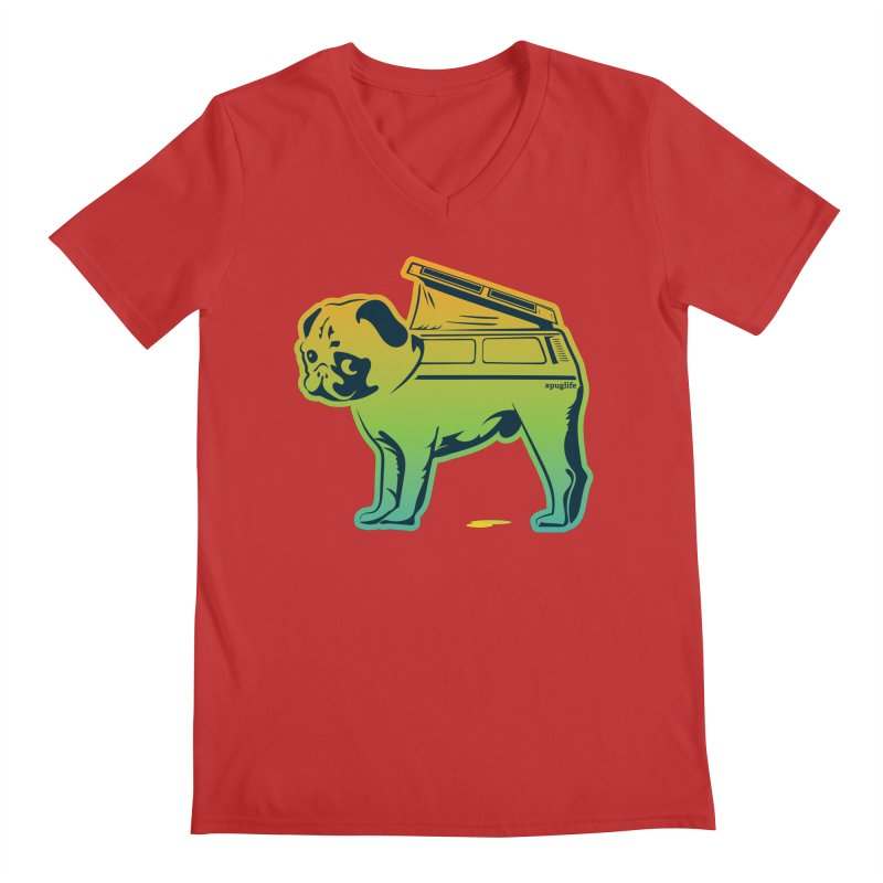 Special Edition Rainbow #puglife Men's V-Neck by Ovid Nine Creative Lab signature shirts