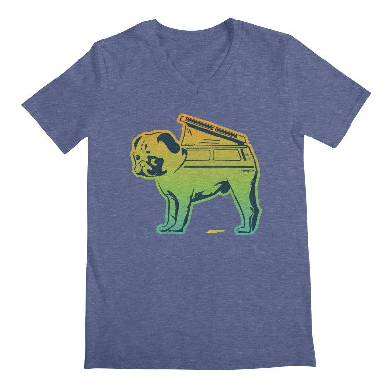 Special Edition Rainbow #puglife Men's Regular V-Neck by Ovid Nine Creative Lab signature shirts