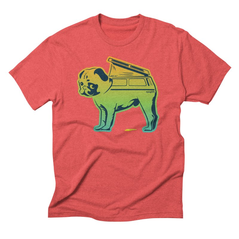 Special Edition Rainbow #puglife in Men's Triblend T-shirt Chili Red by Ovid Nine Creative Lab signature shirts