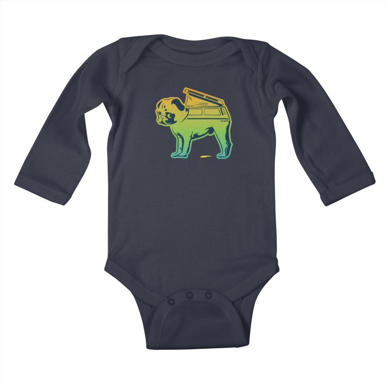 Special Edition Rainbow #puglife Kids Baby Longsleeve Bodysuit by Ovid Nine Creative Lab signature shirts