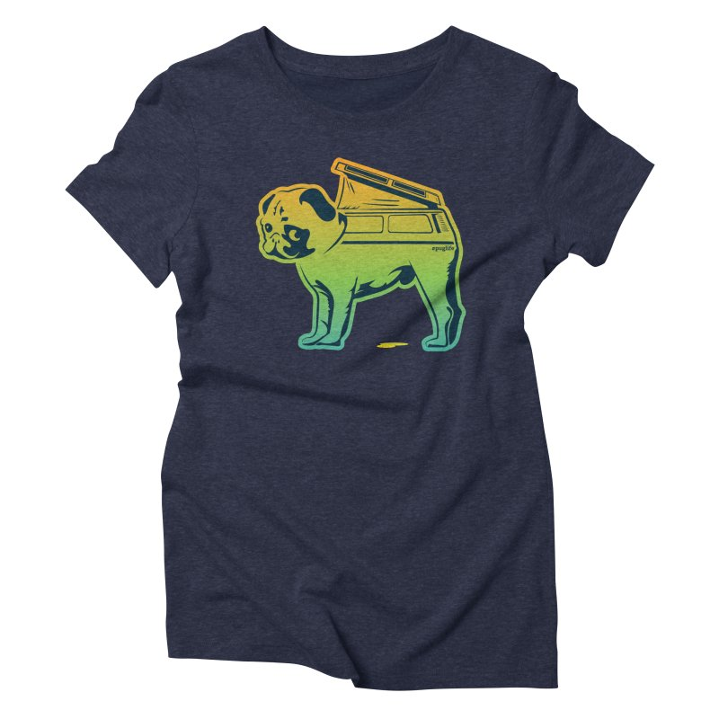 Special Edition Rainbow #puglife Women's T-Shirt by Ovid Nine Creative Lab signature shirts
