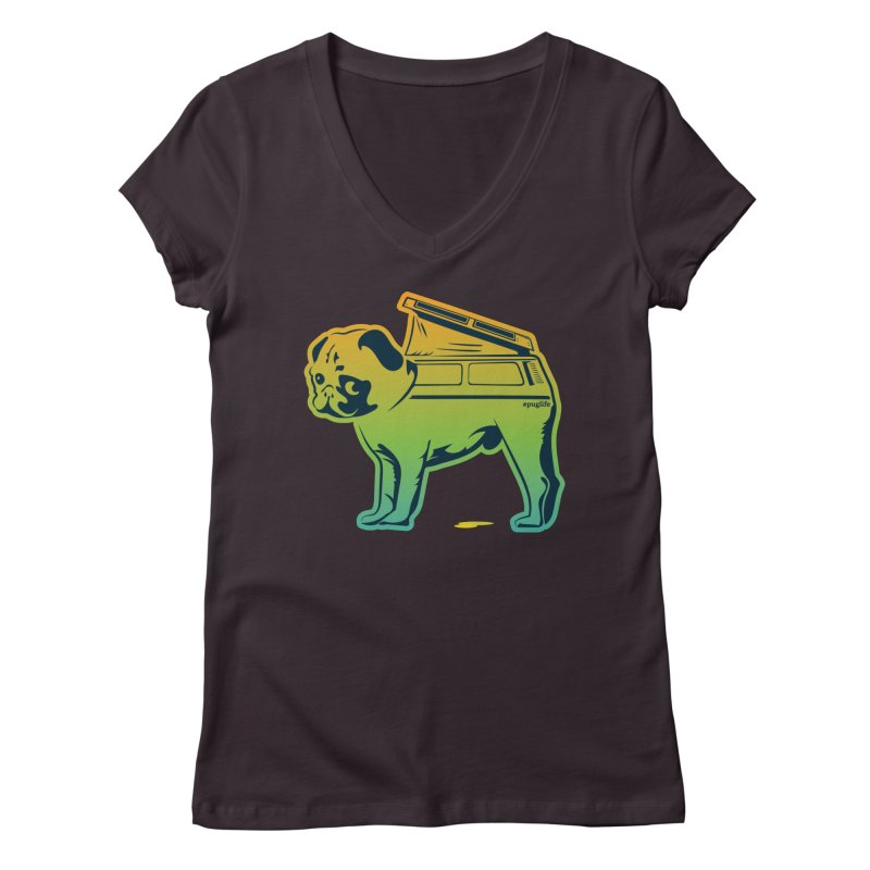 Special Edition Rainbow #puglife Women's Regular V-Neck by Ovid Nine Creative Lab signature shirts