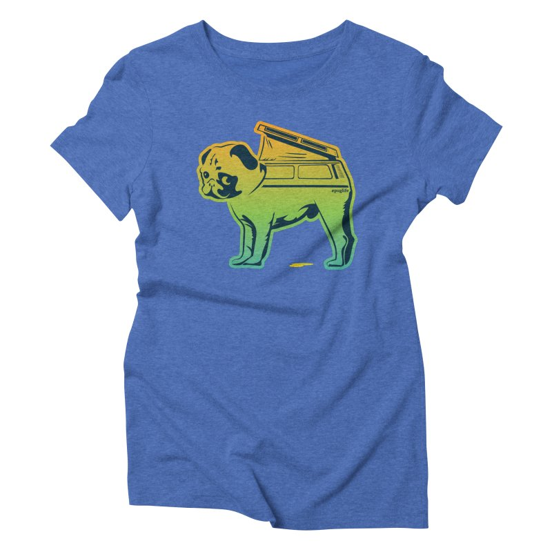 Special Edition Rainbow #puglife Women's Triblend T-shirt by Ovid Nine Creative Lab signature shirts