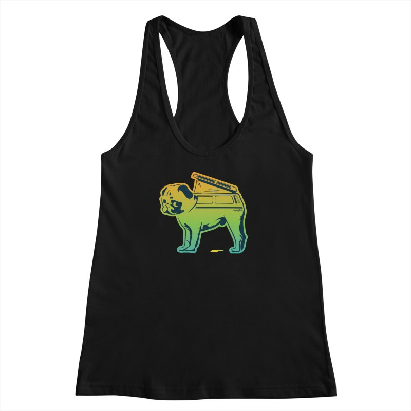 Special Edition Rainbow #puglife Women's Racerback Tank by Ovid Nine Creative Lab signature shirts
