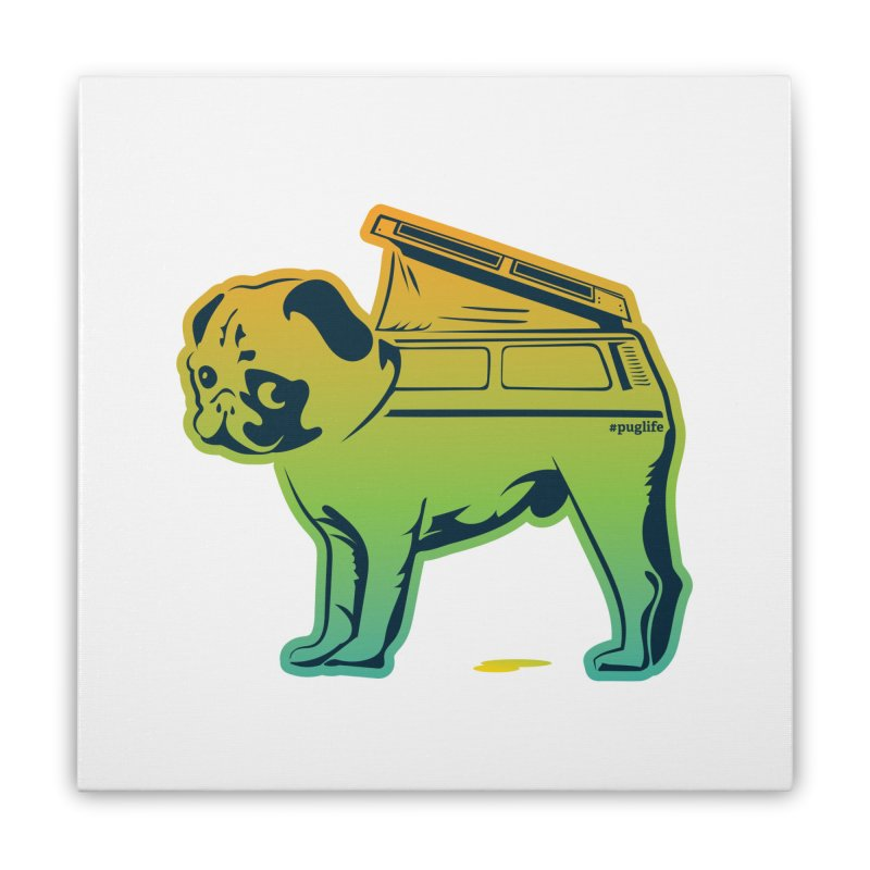 Special Edition Rainbow #puglife Home Stretched Canvas by Ovid Nine Creative Lab signature shirts